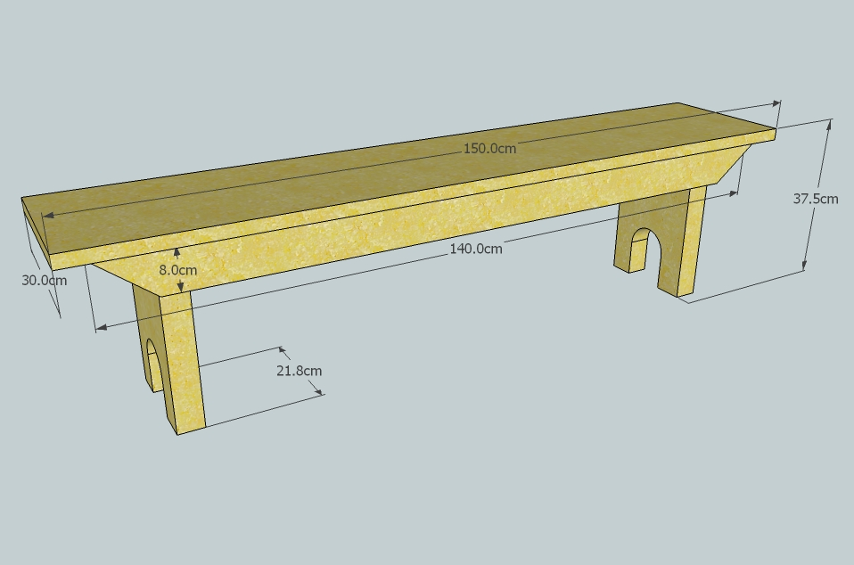 5 board wood bench plans