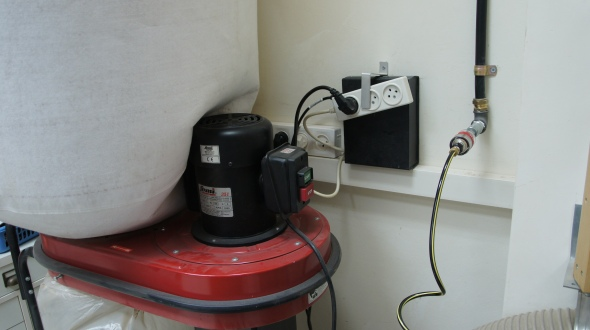 Installed remote control for dust collector